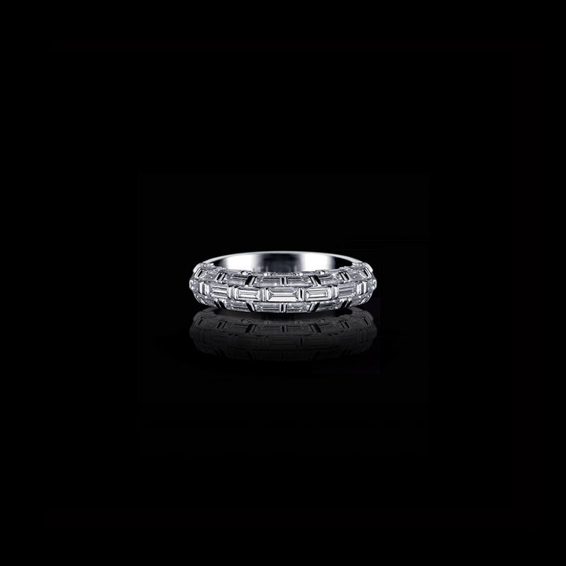 Canturi Bamboo diamond wedding band in 18ct white gold
