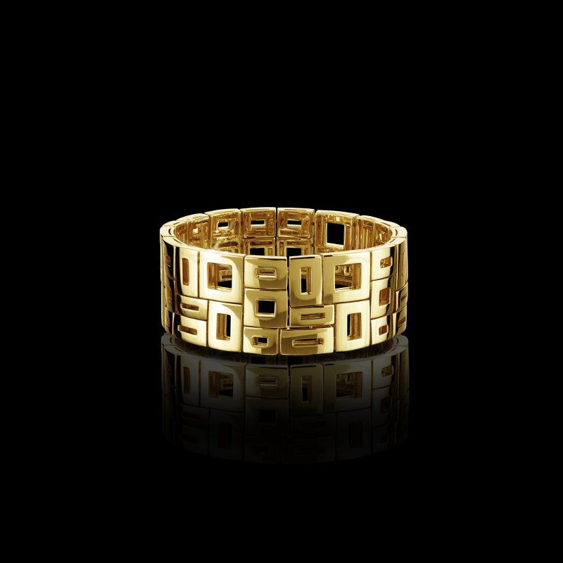 Canturi Cubism cuff in 18ct yellow gold