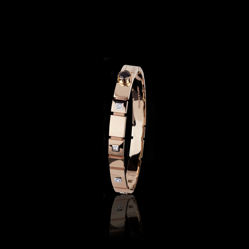 Canturi Eternal diamond stud bracelet in 18ct pink gold.  Also available in 18ct white or yellow gold.