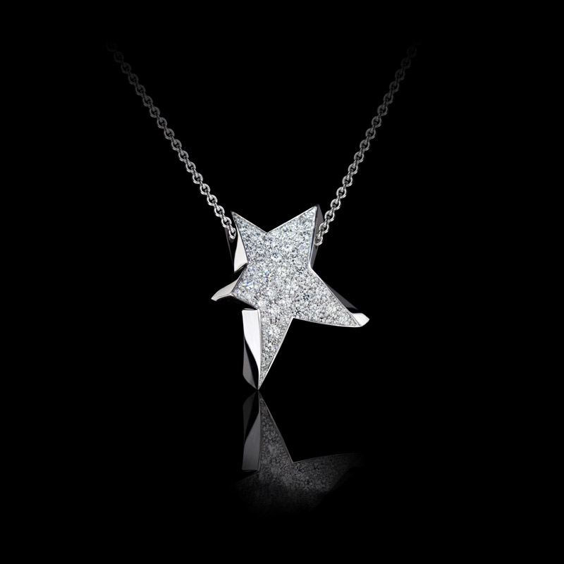 Canturi Odyssey star pendants with full diamonds in 18ct white gold