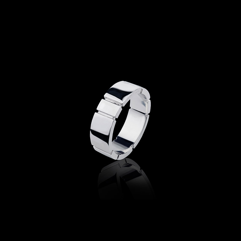 Canturi Eternal 7mm plain band in 18ct polished white gold, also available in yellow or pink gold.