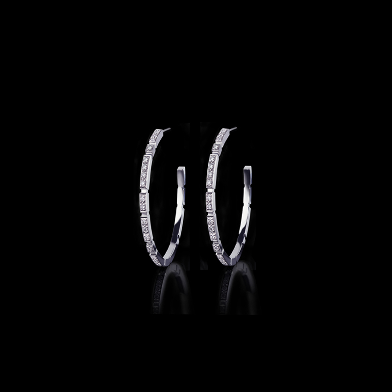 Canturi Regina diamond hoop earrings available in 18ct white gold