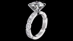 Canturi Regina Engagement ring with round brilliant cut diamond