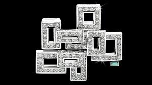 Canturi Cubism Brooch with diamonds