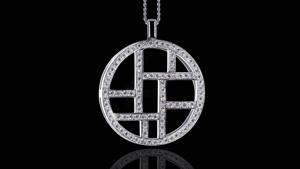 Canturi Metropolis full diamond woven necklace in 18ct white gold, also available in yellow and pink gold