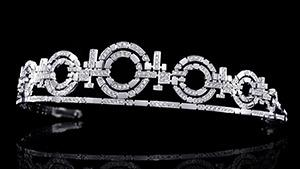 A magnificent Canturi diamond set Tiara with circular and geometric cut motifs in a Stefano Canturi signature design. Created in 18ct white gold